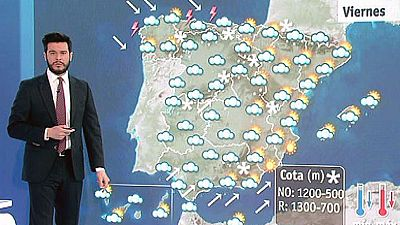 Nevadas en zonas del norte y centro peninsular y temperaturas en descenso