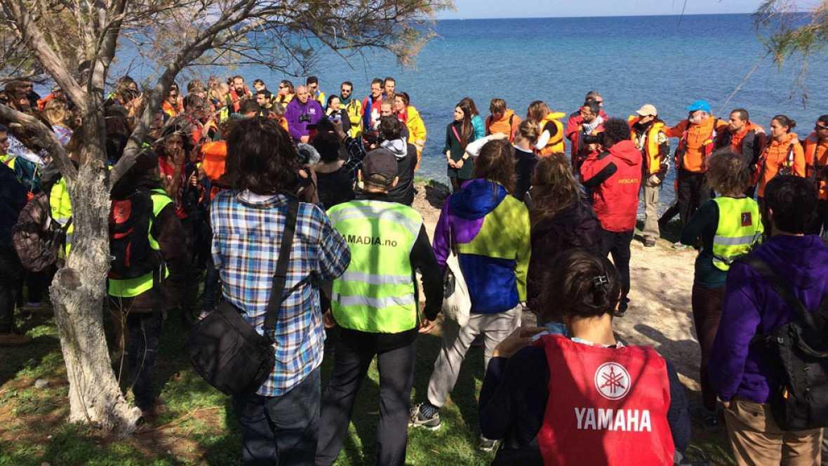 En Lesbos piden pasaje seguro para las personas refugiadas