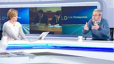 """Méndez (UGT): """"El documento del pacto tiene la suficiente ambigüedad para aglutinar al resto de fuerzas del cambio"""""""