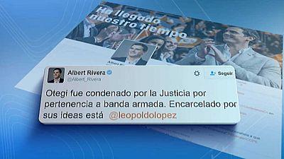 Guerra de tuits entre Iglesias y Rivera por la puesta en libertad de Otegi