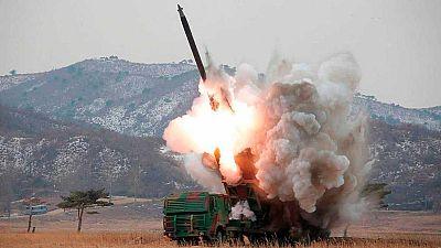 Corea del Norte lanza dos nuevos misiles de corto alcance hacia el Mar del Este