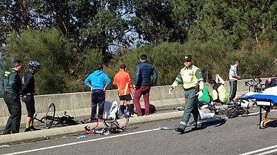 Un conductor de 87 años atropella a un grupo de ciclistas en Pontevedra