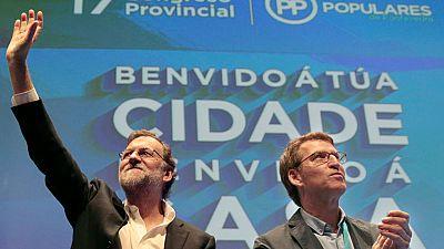Desde Pontevedra Rajoy defiende un Gobierno de coalición