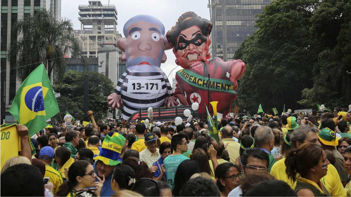 Manifestaciones en Brasil para pedir la renuncia de Dilma Rousseff