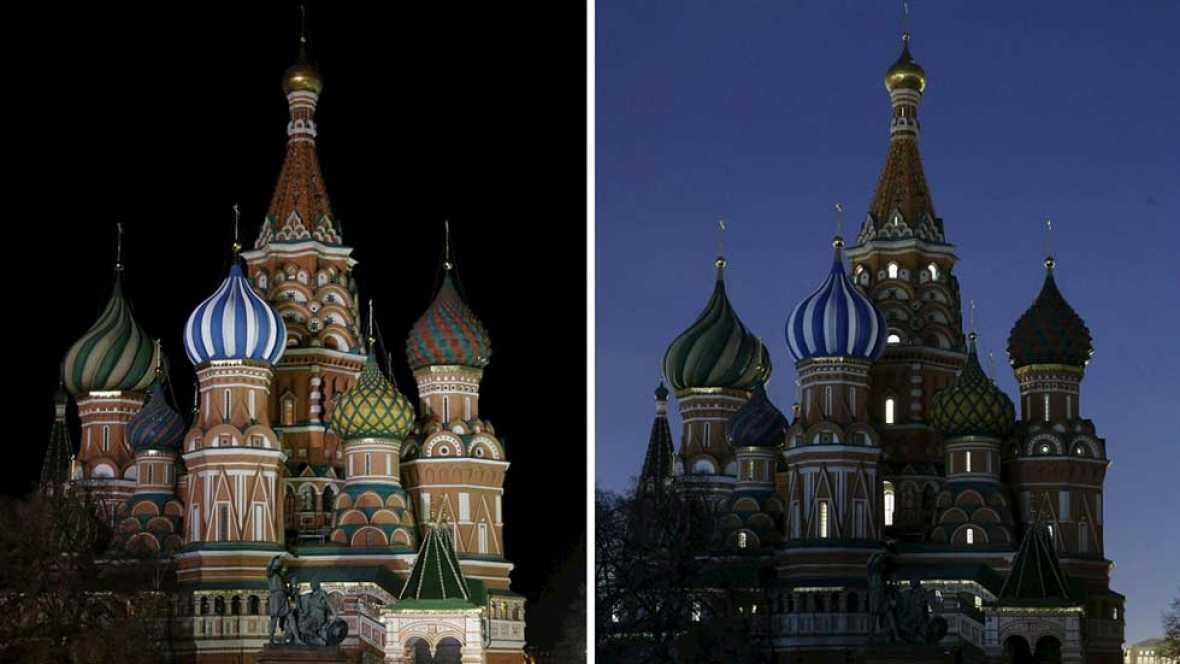 Desde el Kremlin al Palacio Real, miles de edificios y monumentos apagan sus luces contra el cambio climático