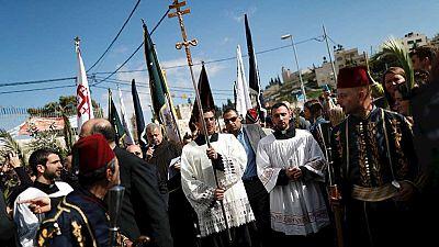 Gaitas y tambores ponen la nota musical a las celebraciones religiosas en Jerusalén