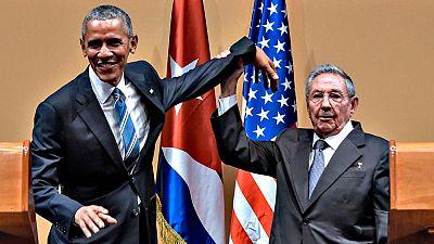 Obama esquiva el gesto triunfal de Castro al final de su rueda de prensa