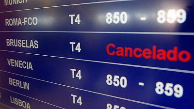 Cancelados decenas de los vuelos entre España y la capital de Bélgica