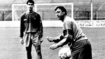 """El entrenador del Bayer de Múnich y exentrenador del FC Barcelona,  Pep Guardiola, ha recordado este viernes exfutbolista y exentrenador  holandés Johan Cruyff, fallecido a los 68 años por un cáncer de  pulmón: """"Con Johan sentías que era posible domi"""