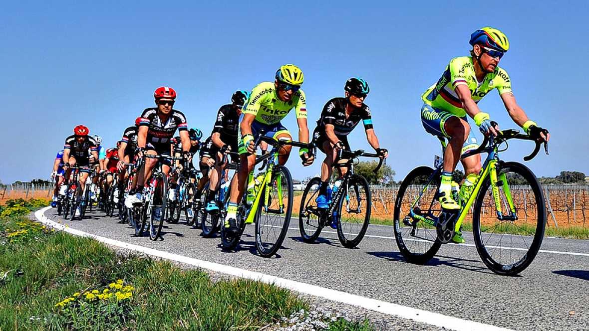 El ciclista italiano Davide Cimolai (Lampre) se ha impuesto este  sábado al sprint en la sexta y penúltima etapa de La Volta a  Catalunya, un recorrido de 197,2 kilómetros entre Sant Joan Despí y  Vilanova i la Geltrú, tras la que el colombiano Nairo