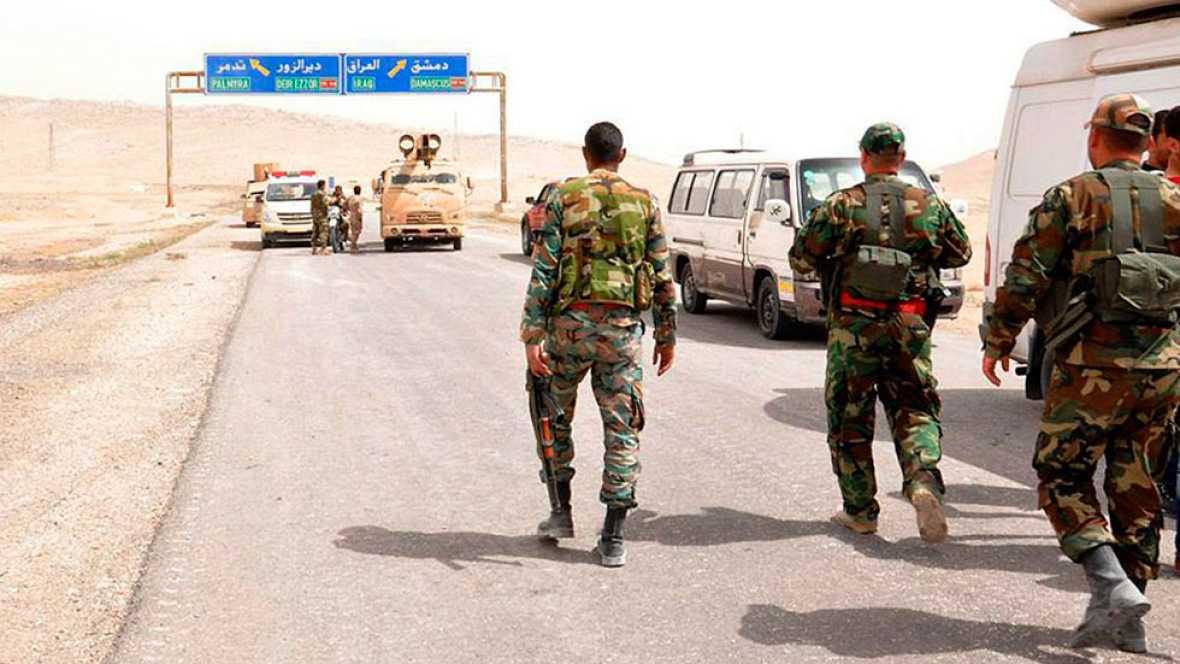 En Palmira los yihadistas se repliegan ante el avance del ejército sirio