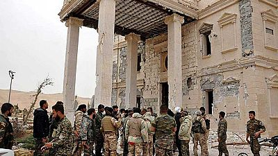 El Ejército sirio desactiva las minas que los yihadistas del Estado Islámico habían colocado en los yacimientos de Palmira