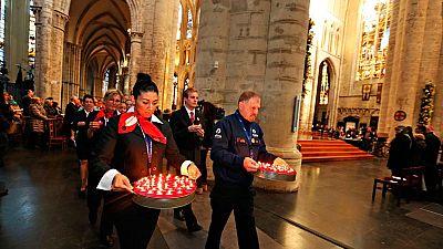 Bruselas recuerda a las v�ctimas de los atentados con un acto ecum�nico en la catedral