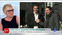 Pedro S�nchez y Pablo Iglesias, reunidos