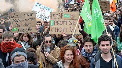 Cientos de miles de manifestantes contra la reforma laboral en Francia