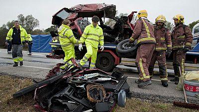 Siete muertos y un herido grave al chocar dos coches en Pont de Molins