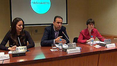 Los consejos de informativos de RTVE han presentado una nueva fase de la campaña 'defiende RTVE' por una televisión plural e independiente