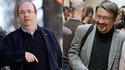 Iceta y Domènech se reunieron el jueves de forma discreta en Barcelona sin avances