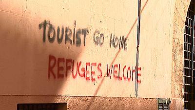 Aparecen en Palma de Mallorca mensajes pidiendo la expulsión de los turistas extranjeros