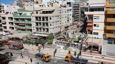 Un edificio de viviendas se ha desplomado en Tenerife