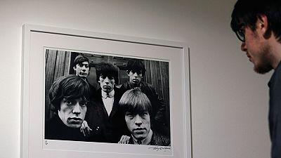 Terry O'Neill inaugura en Madrid una exposición de fotos que tomó a Rolling Stones