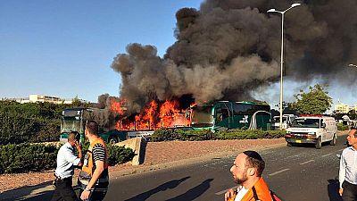 Una bomba colocada en un autobús ha herido a 21 personas en Jerusalén