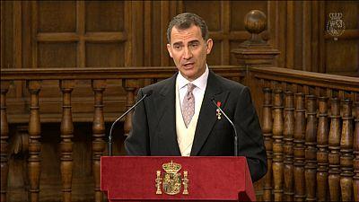 Discurso �ntegro del rey Felipe VI durante la entrega del Premio Cervantes a Fernando del Paso