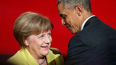 Obama acerca posturas con Merkel sobre el TTIP