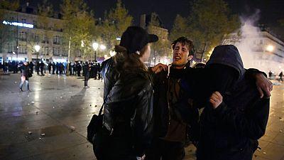Decenas de detenidos en el desalojo de los concentrados en la Plaza de la República en París