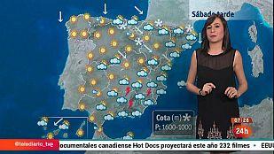 Chubascos en el este Cataluña, descenso de la cota de nieve y vientos