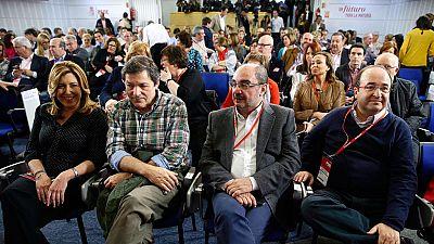 Los barones del PSOE elogian a Madina pero evitan valorar su posición en las listas