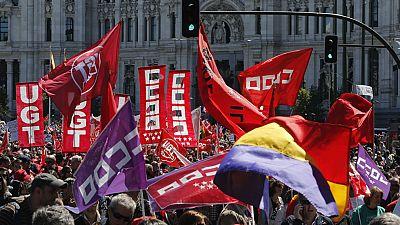 Se celebran manifestaciones en más de 70 ciudades españolas con motivo de Primero de Mayo