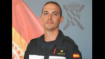 Despedida y homenaje aVictor Martin Rebollo, miembro de la Unidad Militar de Emergencias