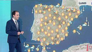 Temperaturas en ascenso en casi toda la península menos en el sur