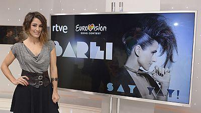 Eurovisi�n 2016 - Rueda de prensa de Barei antes de partir rumbo a Estocolmo