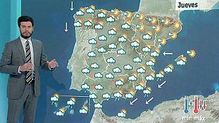 Lluvias fuertes en el extremo oeste peninsular