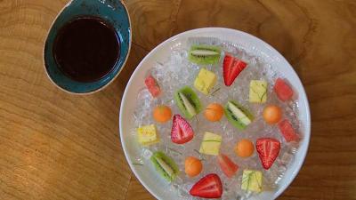 Torres en la cocina - Frutas impregnadas de chocolate