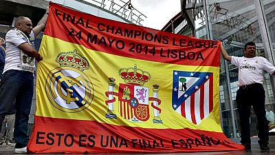 Los dos principales clubes de la capital de España, Real Madrid y  Atlético de Madrid, volverán a verse las caras en la final de la Liga  de Campeones el próximo 28 de mayo en San Siro, escenario de la cita,  en lo que será la segunda disputa entre a