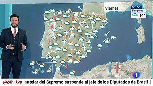 Continúa la nubosidad y las lluvias generalizadas en toda la península