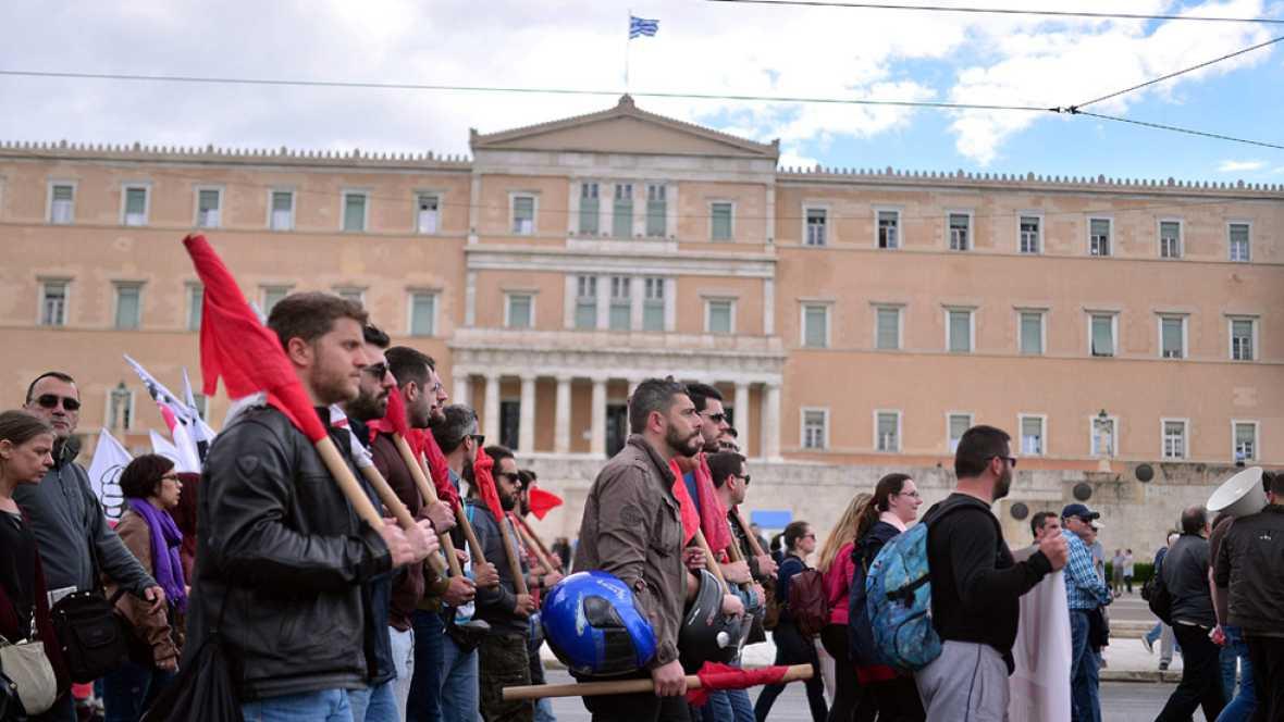 El primer día de huelga general en Grecia paraliza parte del país