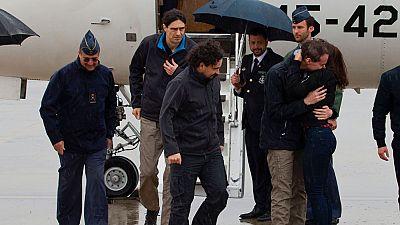 Llegan a Madrid los tres periodistas secuestrados en Siria