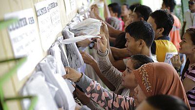 Filipinas vota en las elecciones presidenciales