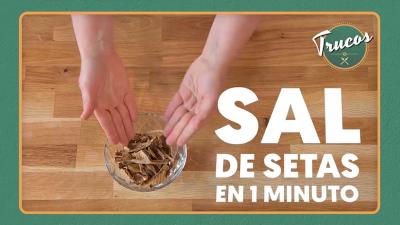 Cómo hacer la sal de setas en un minuto