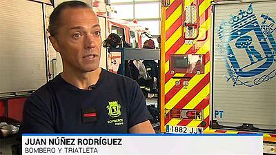 Juan Núñez, la superación de un bombero triatleta