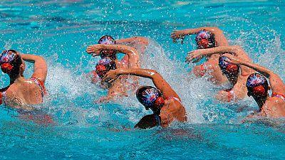 El equipo español de sincronizada, tercero en la preliminar