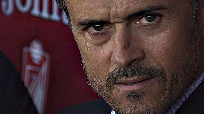 """El entrenador del FC Barcelona, Luis Enrique Martínez, ha  celebrado este sábado el haber revalidado el título de Liga gracias a  la victoria en la última jornada en Granada (0-3) y ha asegurado que,  como título """"merecido"""" que es, ahora toca celebra"""