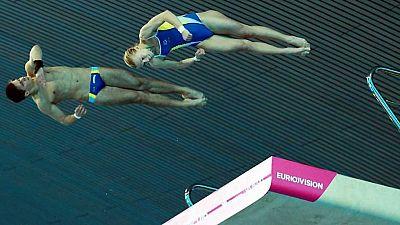 Natación Saltos - Campeonato de Europa. Final 10 metros. Sincronizado Mixto
