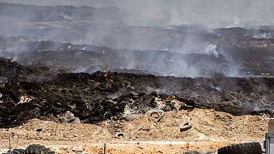 Los colegios de Seseña continúan cerrados mientras se aplican nuevas técnicas para frenar el incendio
