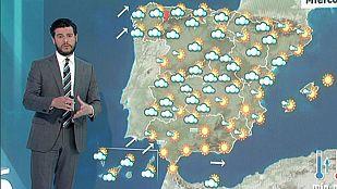 Jornada variable con nubosidad en casi toda la península y chubascos en el norte