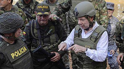 Santos dice que Salud Hern�ndez se encuentra en un trabajo period�stico con el ELN